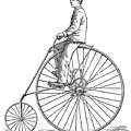 Bicycling, 1880 by Granger
