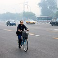 Bicyclist In Beijing by Thomas Marchessault
