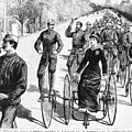Bicyclist Meeting, 1884 by Granger