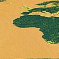 Big Abstract World Map  by Bob Orsillo