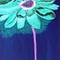 Big Aqua Flower by Jamie Frier