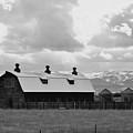 Big Barn In Black And White by Kae Cheatham