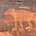 Big Bear Petroglyph by David Lee Thompson