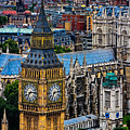 Big Ben And Westminster Abbey by Chris Lord