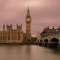 Big Ben And Westminster Bridge, London by Sinisa CIGLENECKI