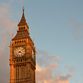 Big Ben Tower With Blue Sky And Some Clouds by IPics Photography