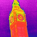 Big Ben, Uk, Thermogram by Tony Mcconnell