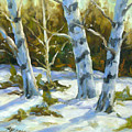 Big Birches In Winter by Richard T Pranke