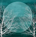 Big Blue Moon Silhouette by Patricia Strand