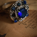 Big Blue Ornamented Ring by Jaroslaw Blaminsky
