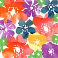 Big Bright Flowers by Linda Woods