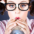 Big Business Kid Making Phone Call With Tin Cans by Jorgo Photography - Wall Art Gallery