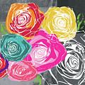 Big Colorful Roses 2- Art By Linda Woods by Linda Woods