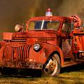 Big Fire - Old Fire Truck by Douglas Barnett
