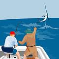 Big Game Fishing Blue Marlin by Aloysius Patrimonio