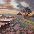 Big Lake Sunset by Anne Dentler