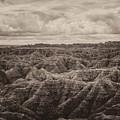 Big Overlook Badlands National Park Sepia by Kyle Hanson