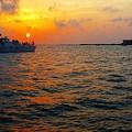 Big Pass Sunset Sarasota Florida by Barbara Chichester