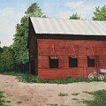 Big Red Barn by Sharon Farber