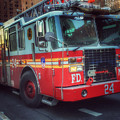 Big Red Engine 24 - Fdny - Firefighters Of New York by Miriam Danar
