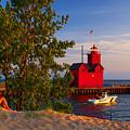 Big Red Lighthouse by Nick Zelinsky