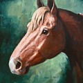 Big Red Snip    Horse Painting by JoAnne Corpany