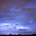 Big Sky With Small Lightning Strikes In The Distance by James BO  Insogna
