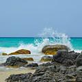 Big Splash On Rocks Of Playa Brava by Laura Angela Morse