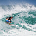 Big Wave Surfer At La Perouse Bay Maui by Denis Dore