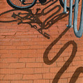 Bike And Bricks No.2 by Linda Apple