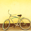 Bike And Yellow Wall by Kyle Rothenborg - Printscapes