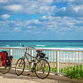 Bike Break At The Beach by Lynn Bauer