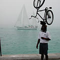 Bike Head In Key West Florida by Carl Purcell