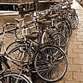 Bike Parking -- Amsterdam In November Sepia by Mark Sellers