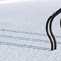 Bike Racks In Snow by Steve Somerville