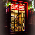 Bike Shop Window by Mick Anderson