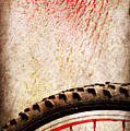 Bike Wheel Red Spray by Silvia Ganora