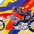 Biker Cat by John Deecken