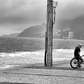 Biker In Ipanema by James Conway
