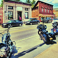 Bikes And Brews - Postcard by David Patterson