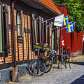 Bikes And Flags by Roberta Bragan