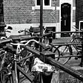 Bikes Hanging Out Mono by John Rizzuto