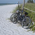 Bikes On The Beach by Jeanette Oberholtzer