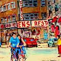 Biking  Past Ben by Carole Spandau