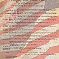 Bill Of Rights With Us Flag Testured by Jack R Perry