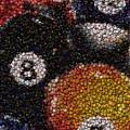 Billiard Ball Bottle Cap Mosaic by Paul Van Scott