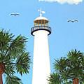 Biloxi Lighthouse Painting by Frederic Kohli