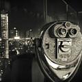 Binocular In New York City, Image In Grunge And Retro Style. by Antonio Gravante