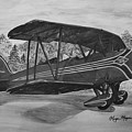 Biplane In Black And White by Megan Cohen