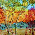 Birch And Liquid Amber by Donna Coupe